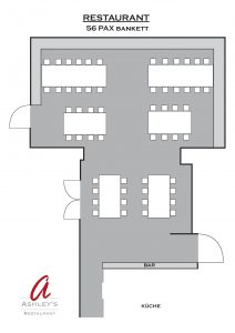 Raumpläne - Restaurant - ab 50 Personen